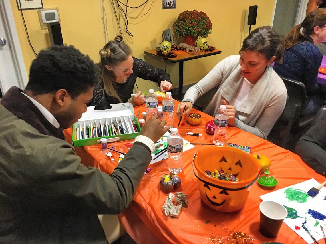 Associate Board Members at our Halloween Service Event