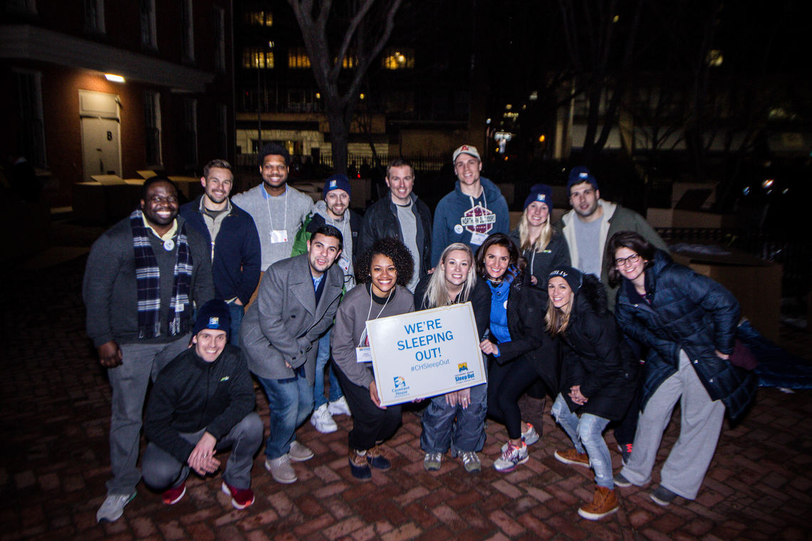 The Covenant House Associate Board and the 2017 Young Professionals Sleep Out