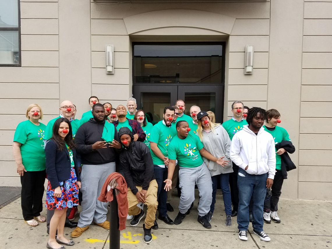 Comacast employees spent their Comcast Cares day with the youth of Covenant House Pennsyvania.