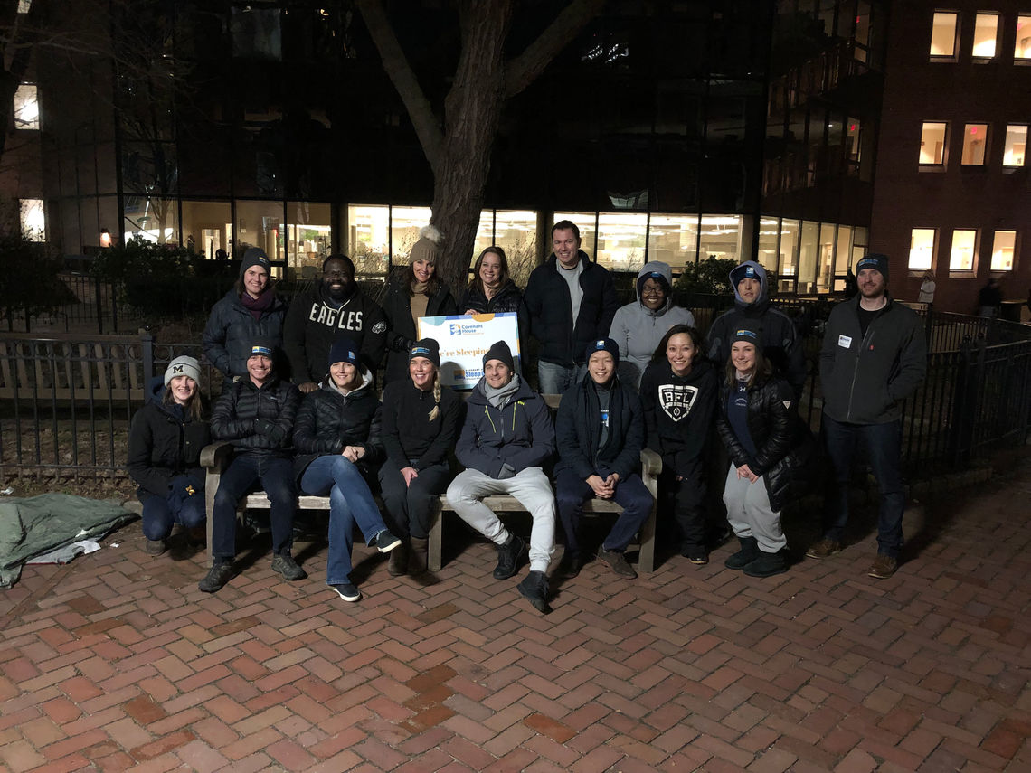 The Covenant House Associate Board at the 2019 Sleep Out: Young Professionals Edition